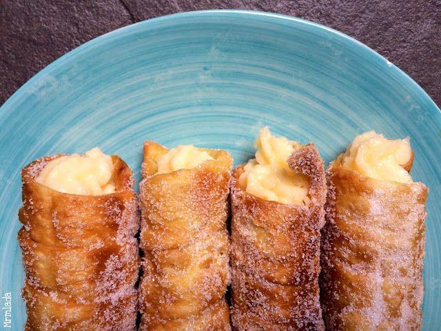 Mrmlada: Canutillos de Bilbao con crema pastelera. Reto Reposteras por Europa (en Euskadi)