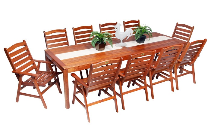 Kimberley 10 Seater Table Setting With Marble Inlay $1199 very nice ...