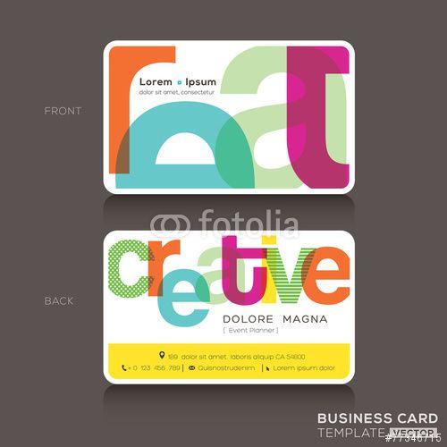 Wektor: Creative Business cards Design Template
