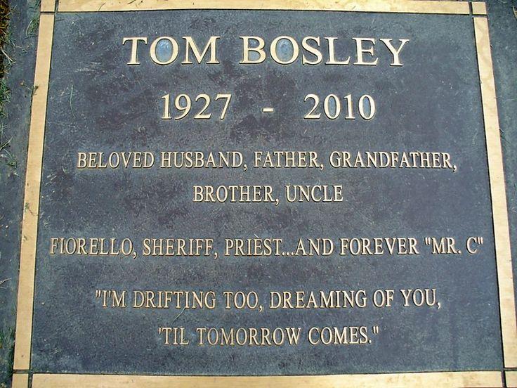 "Tom Bosley ""Howard Cunningham"" - this is so beatifully worded."