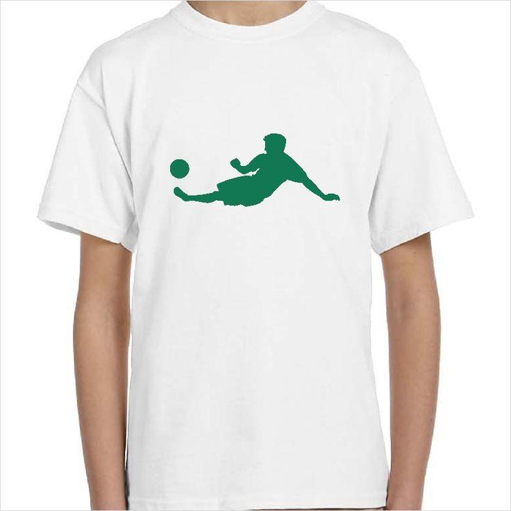 Camiseta infantil silueta futbolista