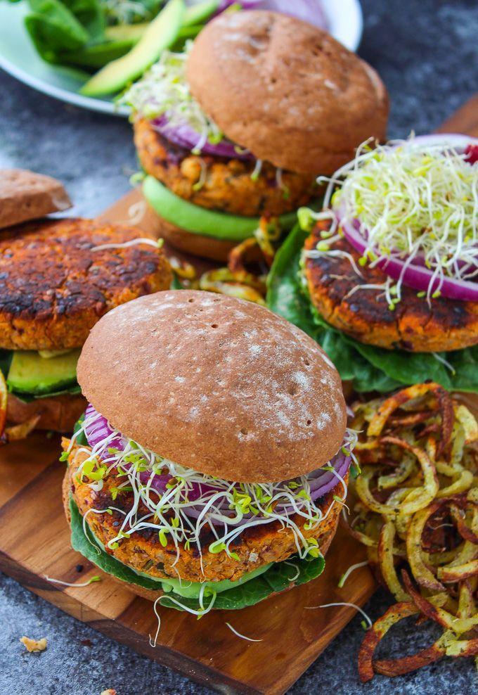 Sundried Tomato Chickpea Burgers - Gluten Free & Vegan @asaucykitchen