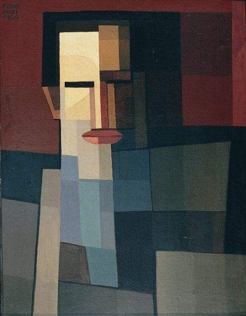Emilio Pettoruti (Argentine, 1892-1971), The painter Xul Solar, 1920. Oil on cardboard,55 x 42.8cm.Colección Castagnino+MACRO, Rosario.