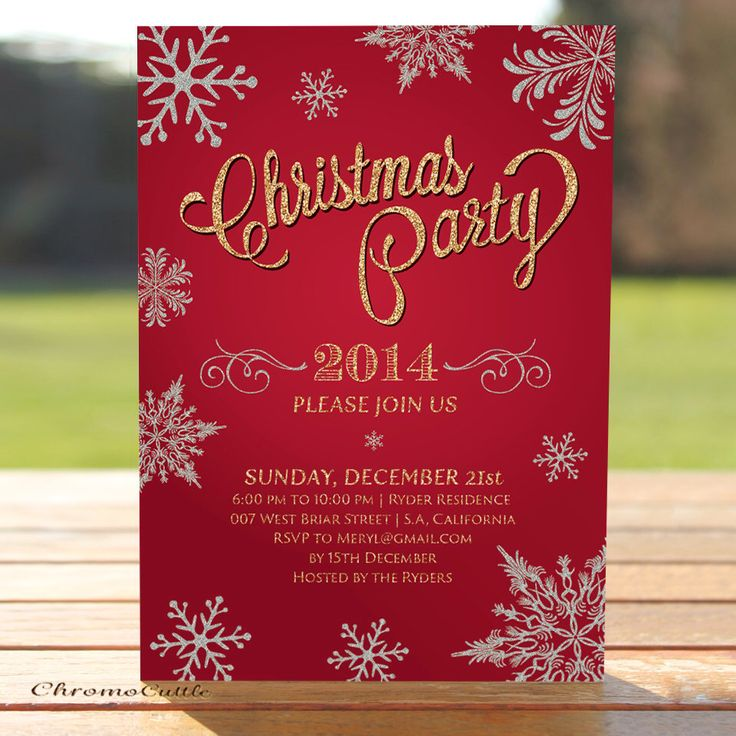 35 best CHRISTMAS INVITATIONS images on Pinterest | Christmas ...