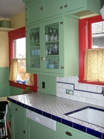 2062 best my red & mint vintage kitchen images on pinterest