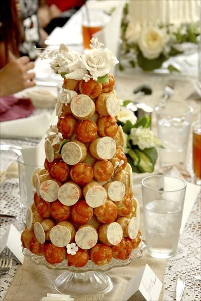 Mini Croquembouche ... a great idea for a wedding, at each table or per person