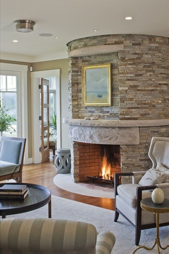 27 best fireplace makeover images on pinterest corner - Wallpapering around a curved corner ...