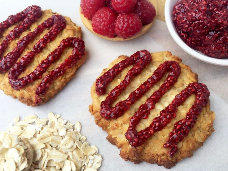 Honey Cookies With Raspberry Drizzle