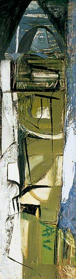 Peter Lanyon - The Green Mile, 1952, Oil on Masonite, 158.7 x 49.5 cm