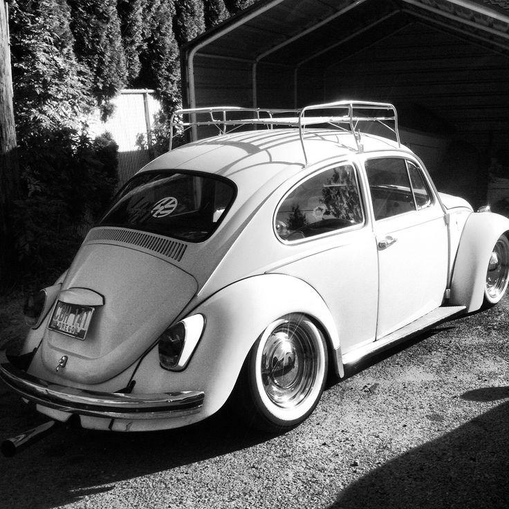 volkswagen bug lowrider whitewalls blackandwhite vw