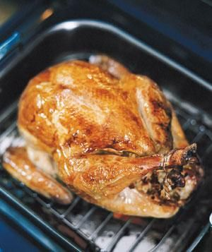 Basic Roast Turkey   This time-tested roast turkey recipe requires only the most straightforward prep. But we devised a way to dress the turkey up once it's ready to serve, by garnishing the bird with navel orange wedges and fresh flat-leaf parsley or celery leaves. This way, by the time it arrives at the table, your Thanksgiving guests will be sure you've put in extra work (when in reality, your turkey's roasted in the oven mostly without intervention, thanks to a cup of water you'll add…