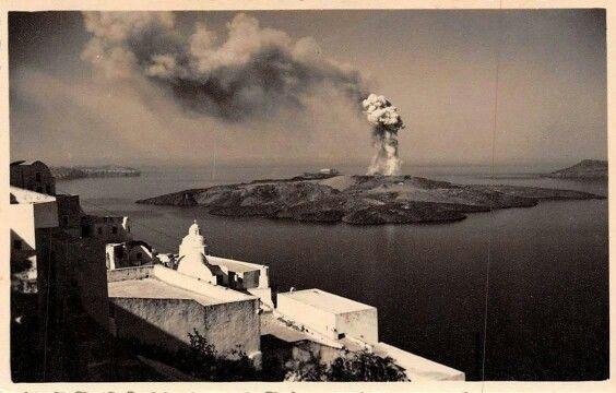 Σαντορινη ηφαιστειο 1952