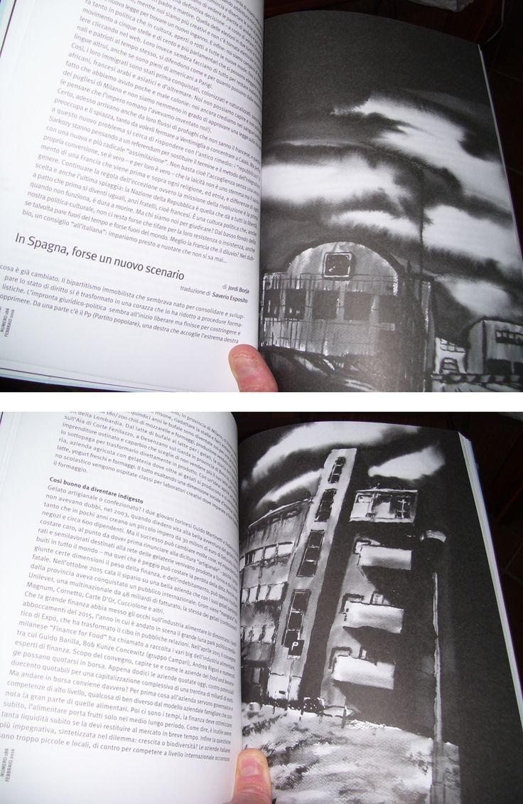 Lo Straniero n.188 di febbraio - Contrasto Editore. 2 dei miei lavori che vi compaiono