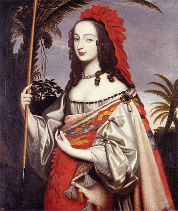 Sophia of the Palatinate, Electress of Hanover (Dressed as an Indian) - painted by her sister, Louise Hollandine of the Palatinate - ca. 1644.