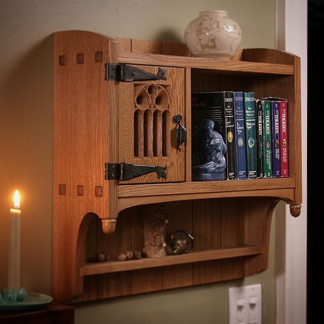 Small cabinet hobbit style mike pekovich instagram for Hobbit house furniture