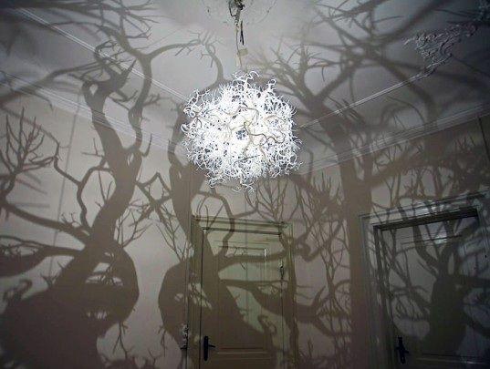 Ces incroyables lustres sont créés parHilden Diazet servent à créer une atmosphère subtile.