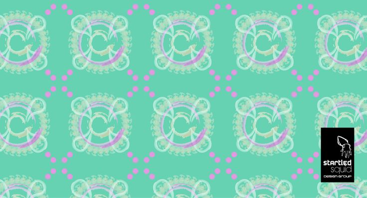 A pattern we created in Illustrator. Feeling paisley.