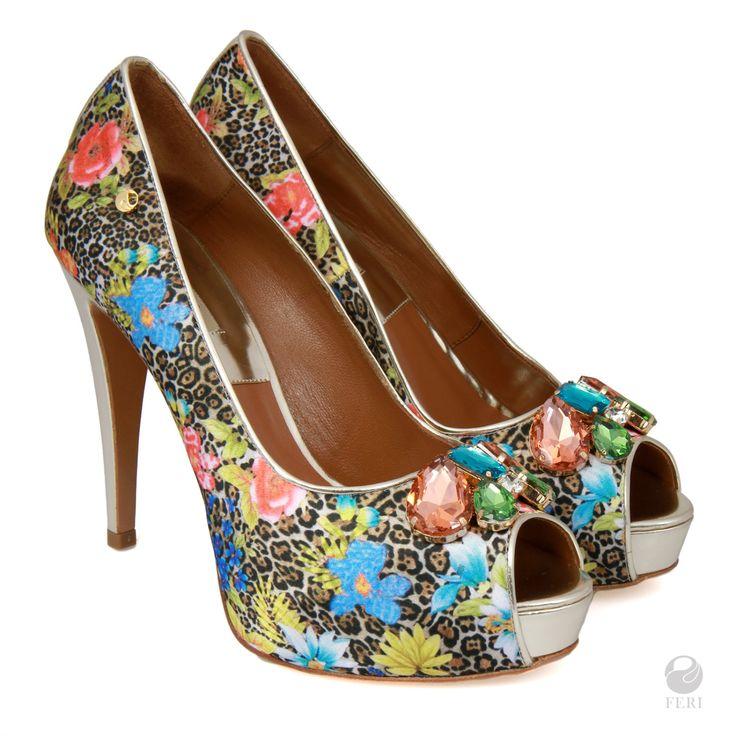Ladies genuine leather peep toe platforms, High Heel peep toe, High heel shoes by FeriStore on Etsy