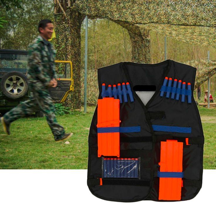 Promotion 54*47cm Nylon Adjustable Hunting Tactical Vest with Storage Pocket for Nerf N-strike Elite Games Hunting Vest