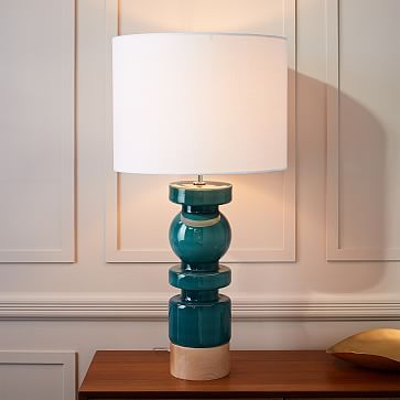 Scandinavian glass table lamp large westelm