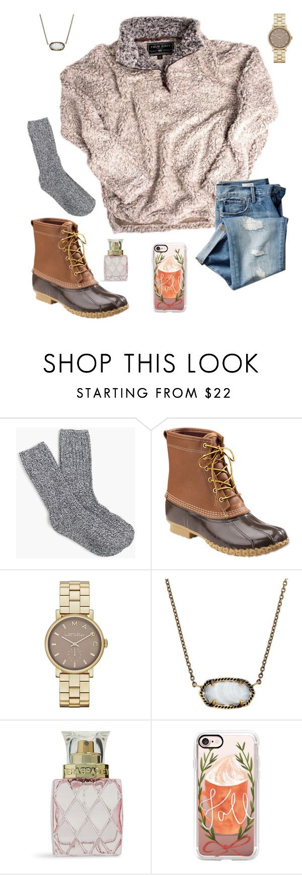 """Someone please get me a True Grit pullover"" by outfitsbyalaina ❤ liked on Polyvore featuring J.Crew, Gap, L.L.Bean, Marc Jacobs, Kendra Scott, Vera Bradley and Casetify"