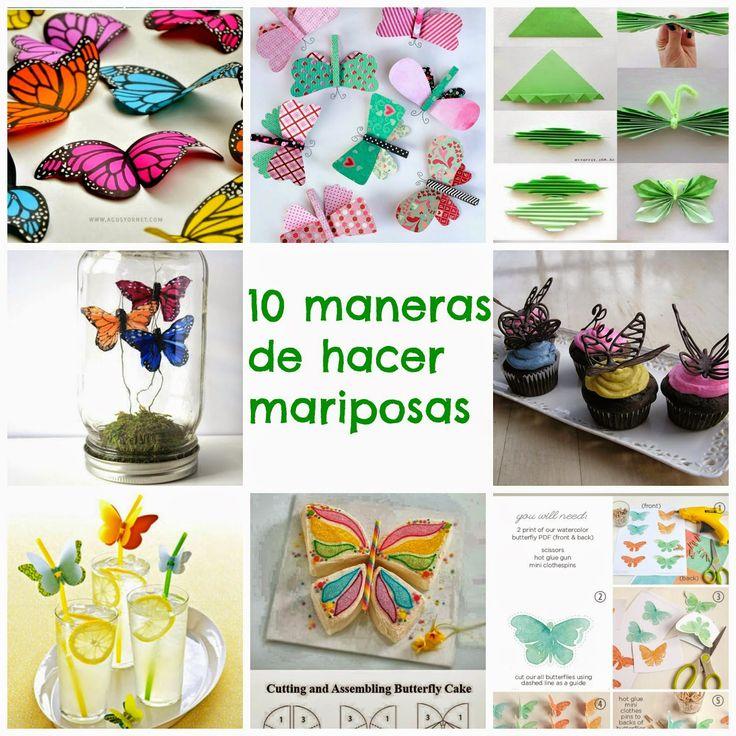 Manzanaterapia: 10 maneras de hacer mariposas