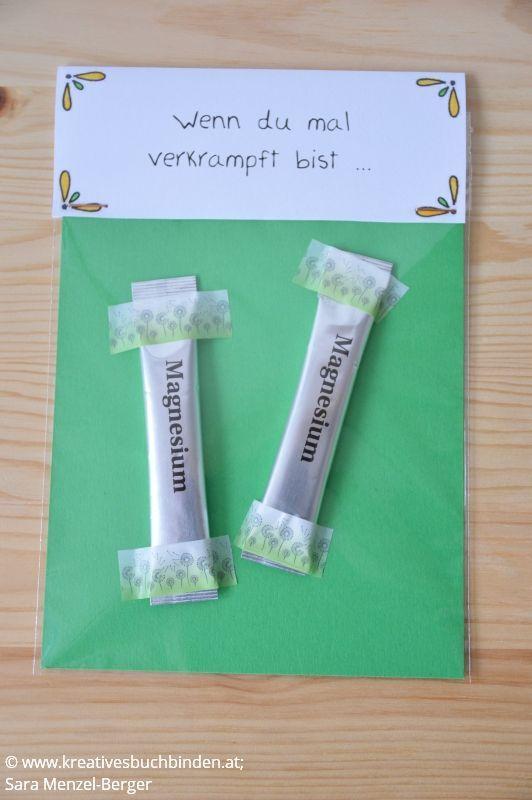Wenn du mal verkrampft bist ... Geschenk: Magnesium Die Wenn-Box ist ein tolles Geburtstagsgeschenk, du kannst sie aber auch basteln für eine Hochzeit, als Mi