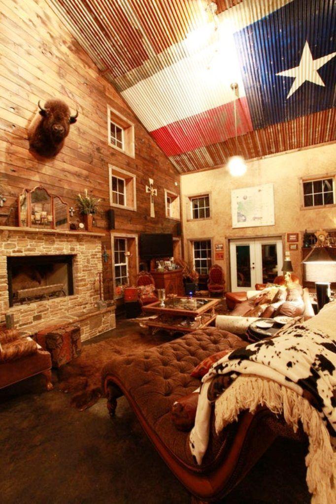 Texas Themed Living Room Living Room Room House Styles