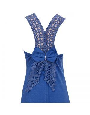 Φόρεμα μακρύ σε μπλε χρώμα.