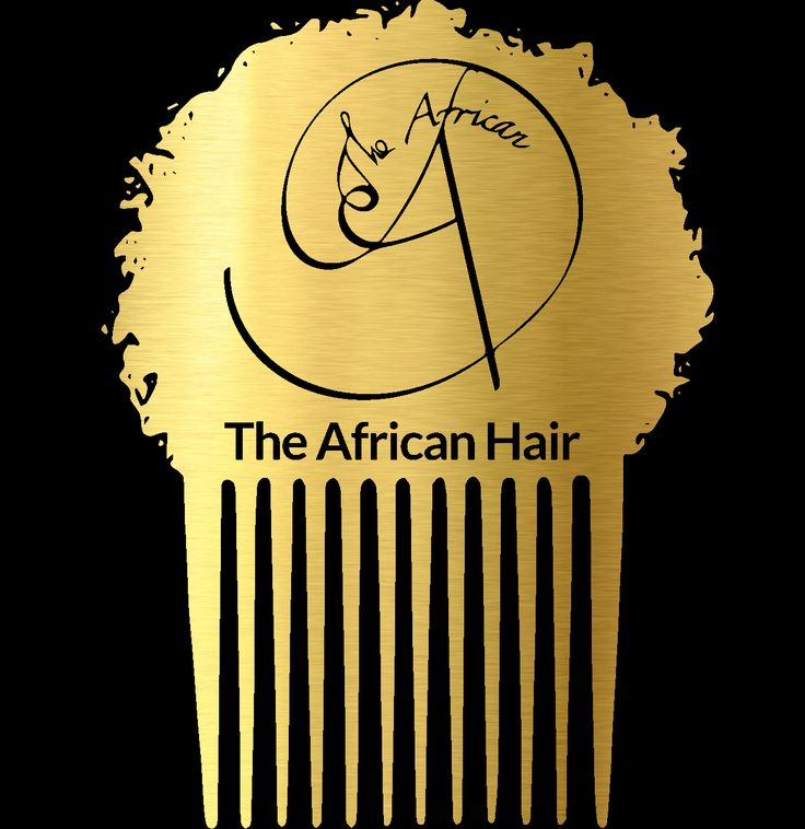 theafricanhair.com logo. This is a really cool design.