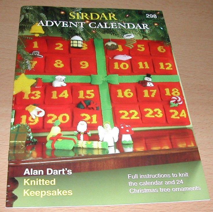 Advent Calendar Handmade Knitting : Alan dart s advent calendar knitted keepsakes pattern book