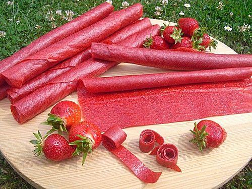 Bananen-Erdbeer-Fruchtleder