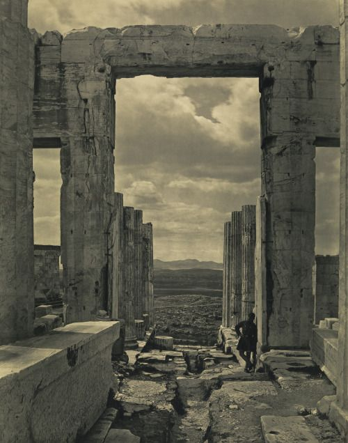 "didoofcarthage: "" ""The Propylaia to the Acropolis, Athens"" by Braun, Clément & Cie 1869 (negative) and about 1890 (print) carbon…"