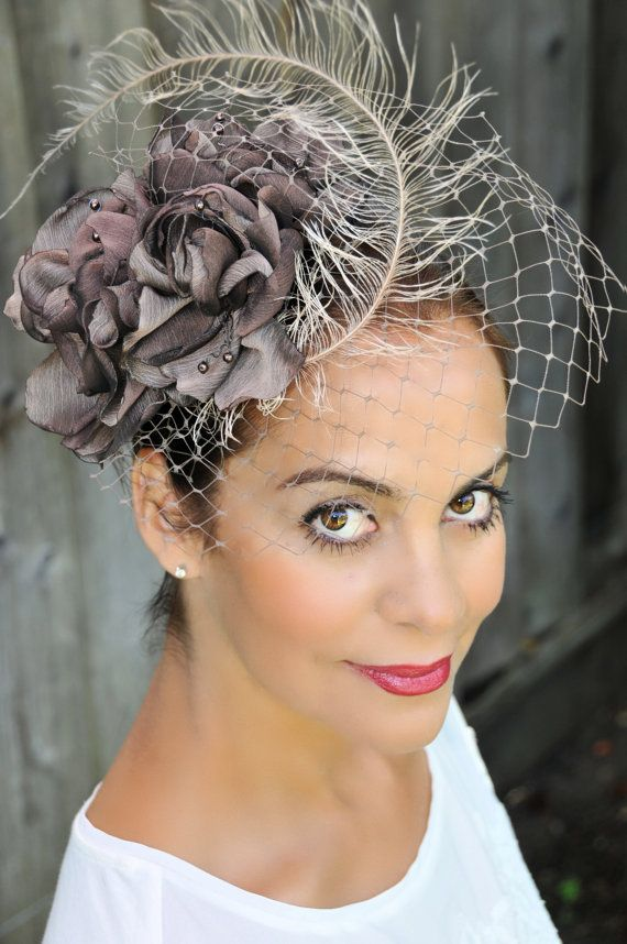 Fascinator Hat Brown Cocktail Holidays Wedding by ExclusiveHats, $165.00