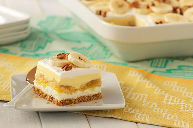 Go bananas with this sweet and delicious Banana Split Cake from Kraft. Find out how to turn your favorite ice cream dish into a delightful cake.