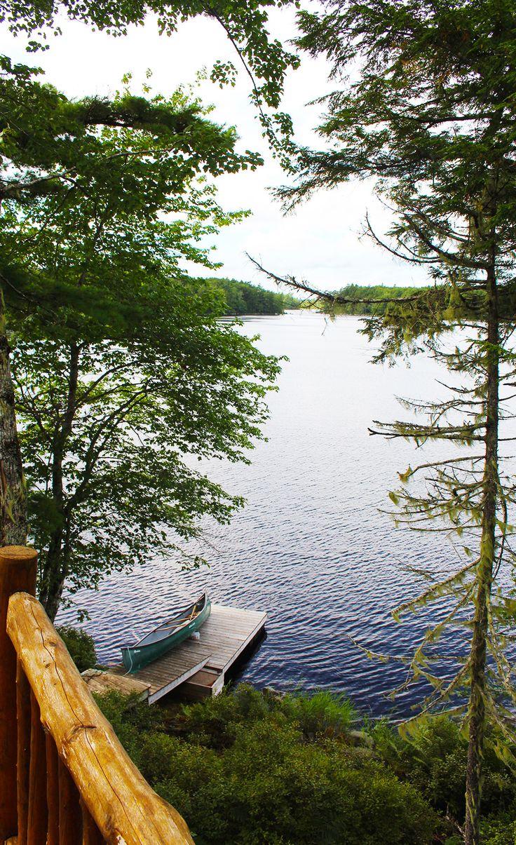 Kanu auf dem John's Back Lake in der Nähe von Shelburne, Nova Scotia (SK-Foto: D. Reichert) #canoe, #johnsbacklake, #shelburne, #novascotia