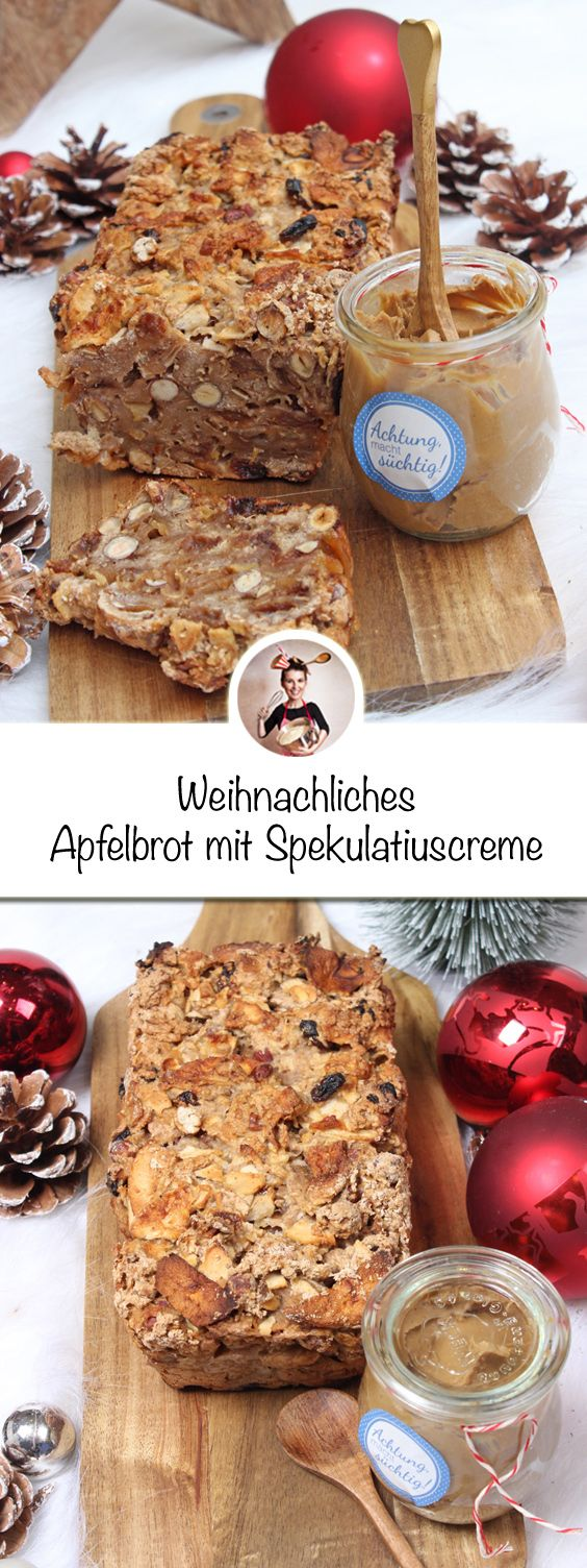 This Christmas apple bread with specula …
