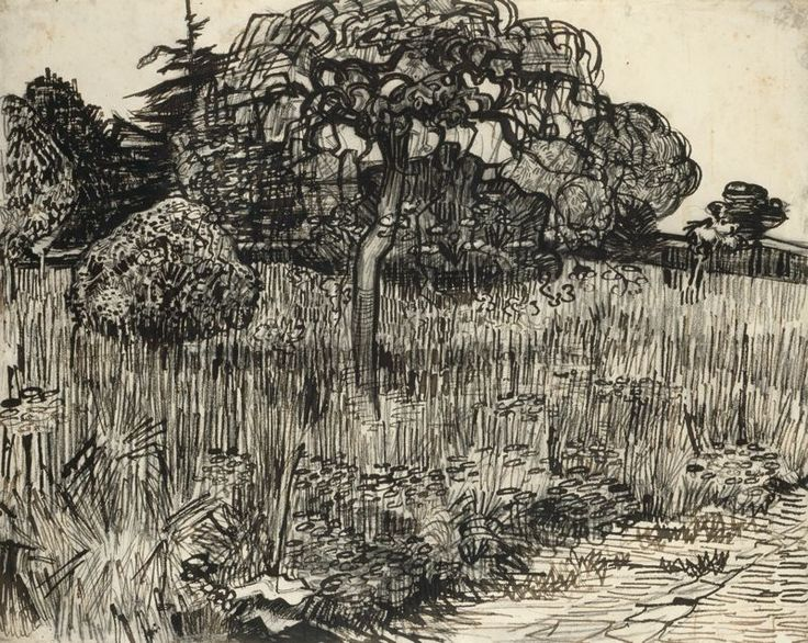 Vincent van Gogh - Weeping Tree Value and Texture. MASTERWORK!