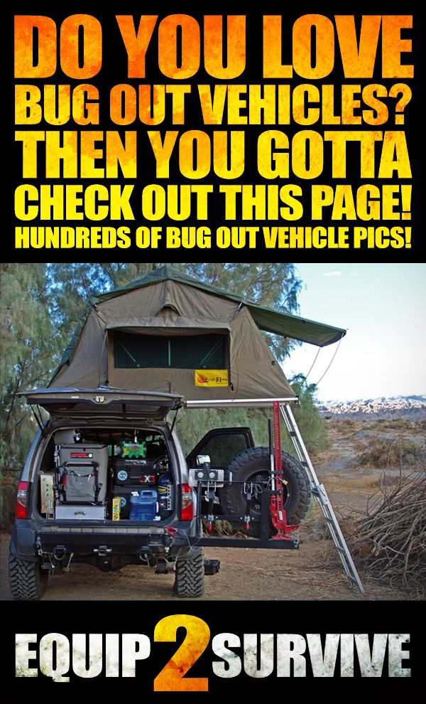 Do you love photos of bug out vehicles?? If so, you HAVE to check out this page! HUNDREDS of pics of awesome bug out vehicles and adventure vehicles!