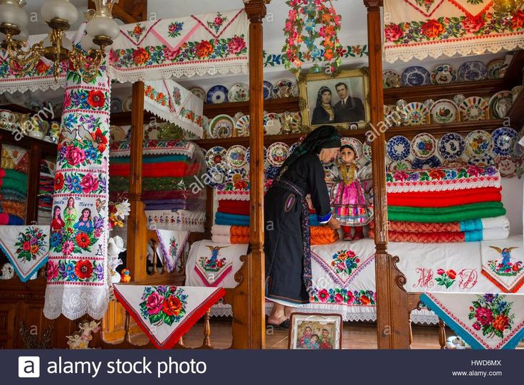 Greece, Dodecanese, Karpathos, decorated house typically karpathos style    Contributor: Hemis / Alamy Stock Photo. www.alamy.com.