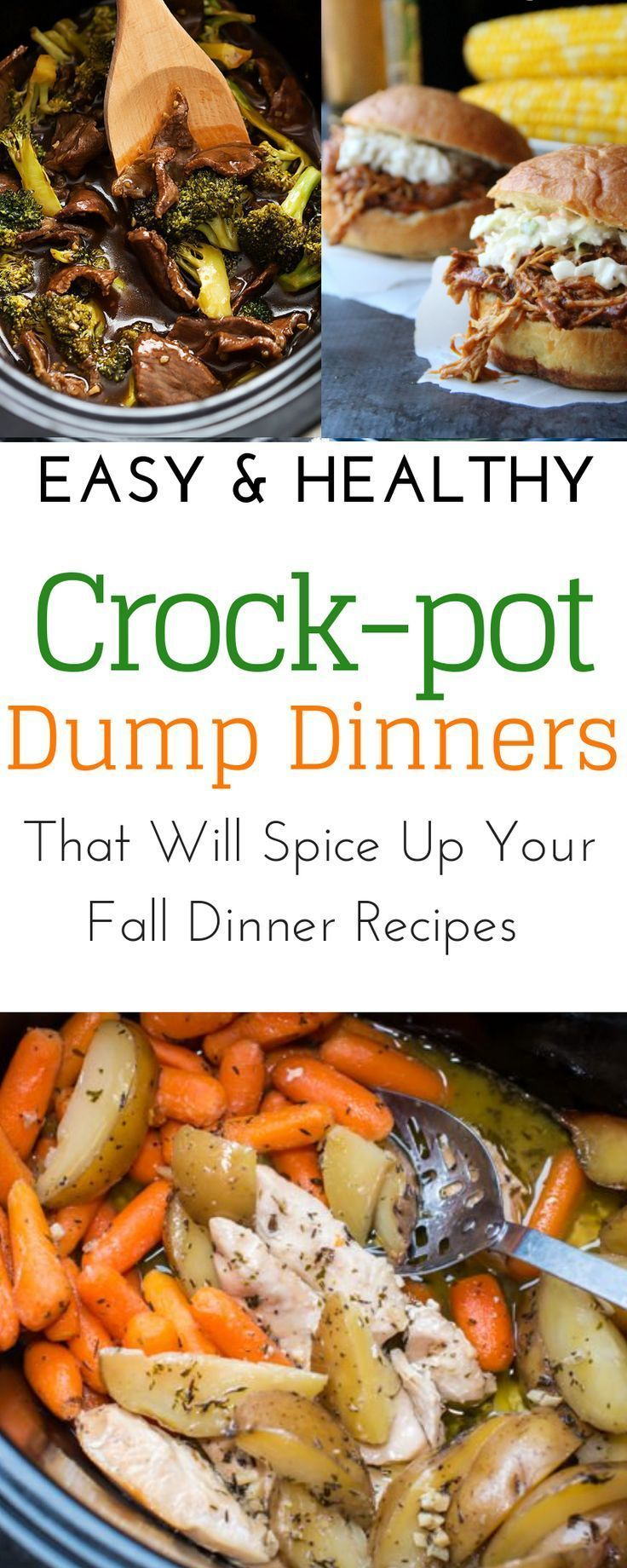 7 Healthy Slow Cooker Dinner Recipes With Soups Chicken Beef Pork Or Vegetarian Easy Crockpot Dinners Crockpot Dinner Crockpot Recipes For Kids