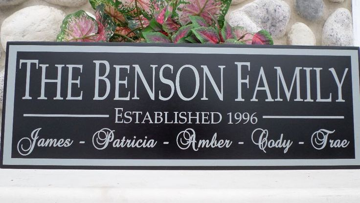 Wood family name sign, personalized family name sign, custom family name sign, last name sign family name plaque gift for family established by TaylorSigns on Etsy https://www.etsy.com/listing/217975406/wood-family-name-sign-personalized