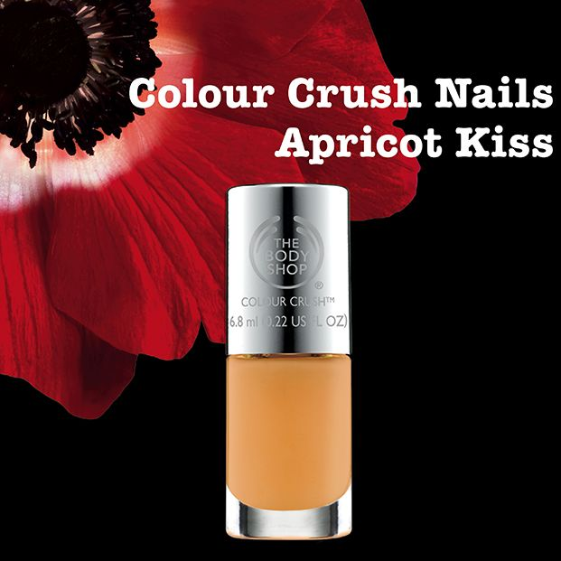 NEW Apricot Kiss The Body Shop Colour Crush Nail Polish: http://www.thebodyshop.co.za/store/product/colour-crush-nail-polish#