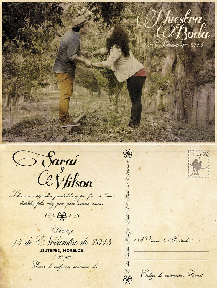Invitación/Save The Date. Diseñadora: @grace103