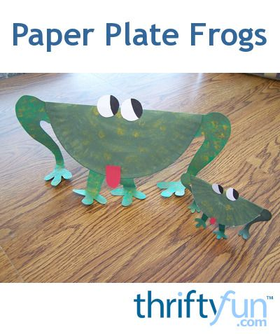 This is a guide about making paper plate frogs. Paper plates are excellent materials for a huge number of crafts for children.