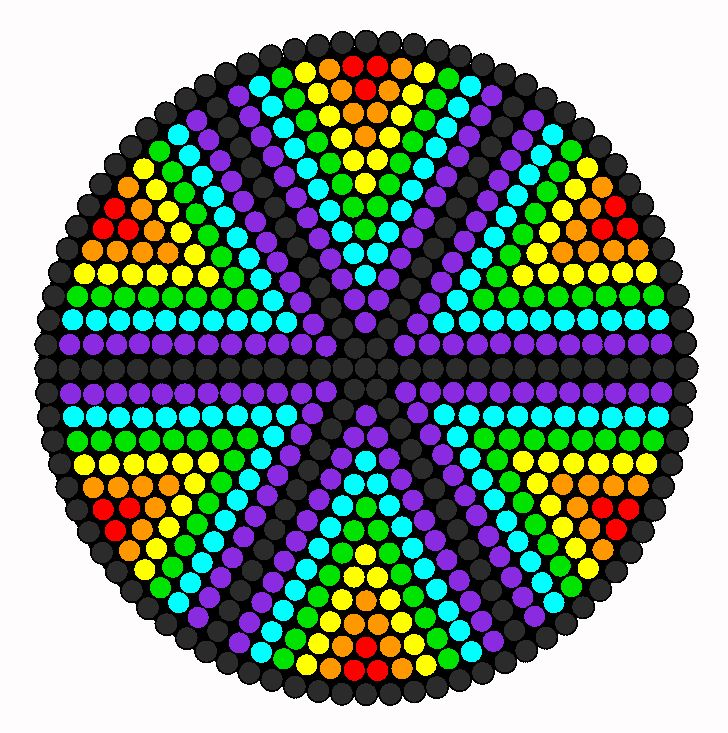The Wheel Of Colors Perler Bead