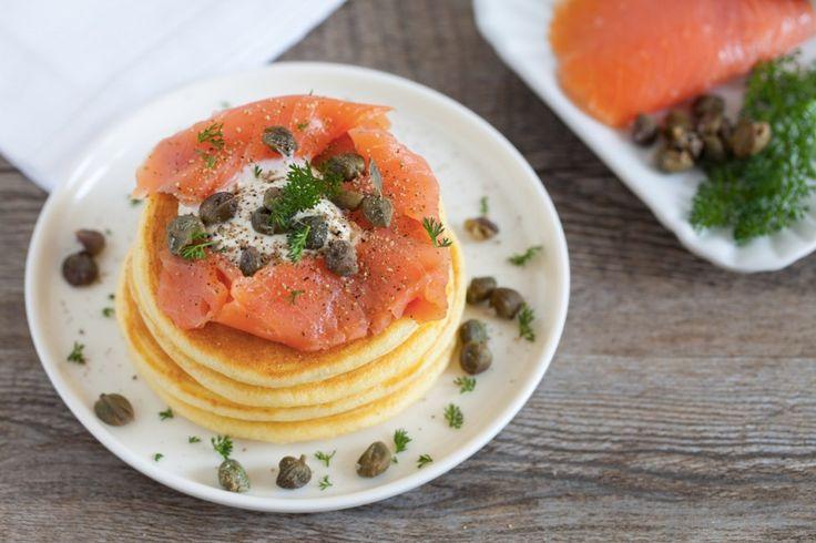Pancake salati al salmone