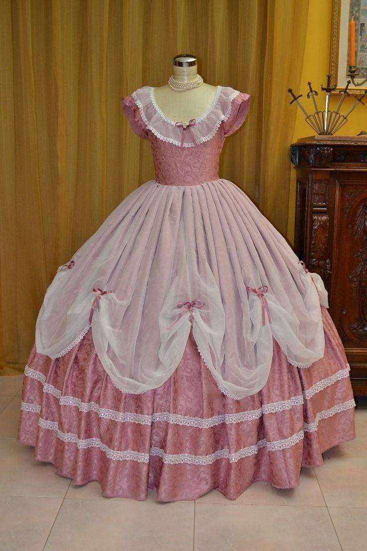 Abito Storico Costume di Scena Abito d'Epoca Costume Stile 1800 cod. 1110 in Abbigliamento e accessori, Carnevale e teatro, Costumi d'epoca e teatro | eBay