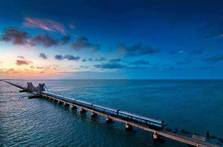 Pamban Bridge Rameswaram TamilNadu