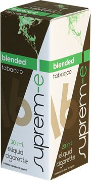Buy Blended Tobacco 20ml - Suprem-e eLiquid   The best tobaccos, selected by professional expert blenders, for a sensation rich in aromas and details of flavour that convey all the taste and fragrances of real tobacco. Blended tobacco is closest you can get to the traditional cigarette or tobacco cigars.